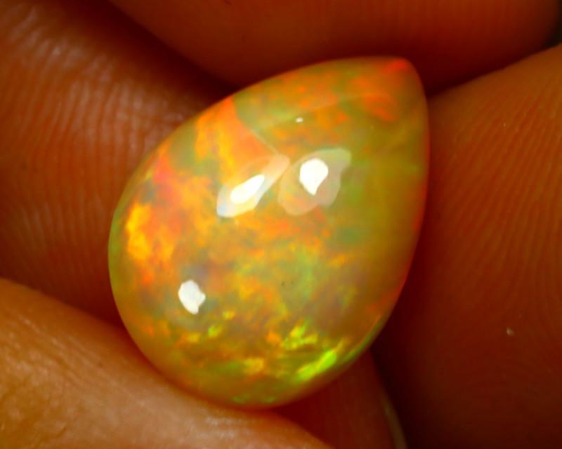 Welo Opal 3.29Ct Natural Ethiopian Play of Color Opal JN17