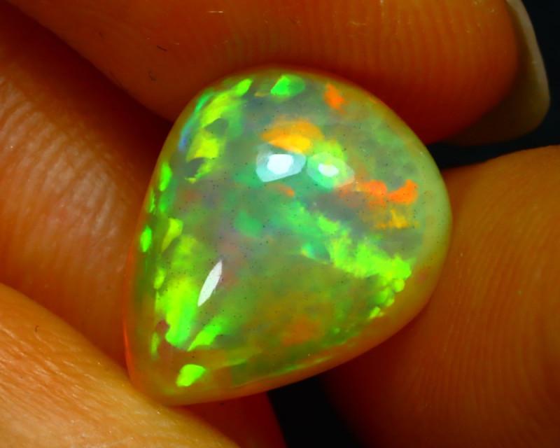 Welo Opal 3.97Ct Natural Ethiopian Play of Color Opal JN19