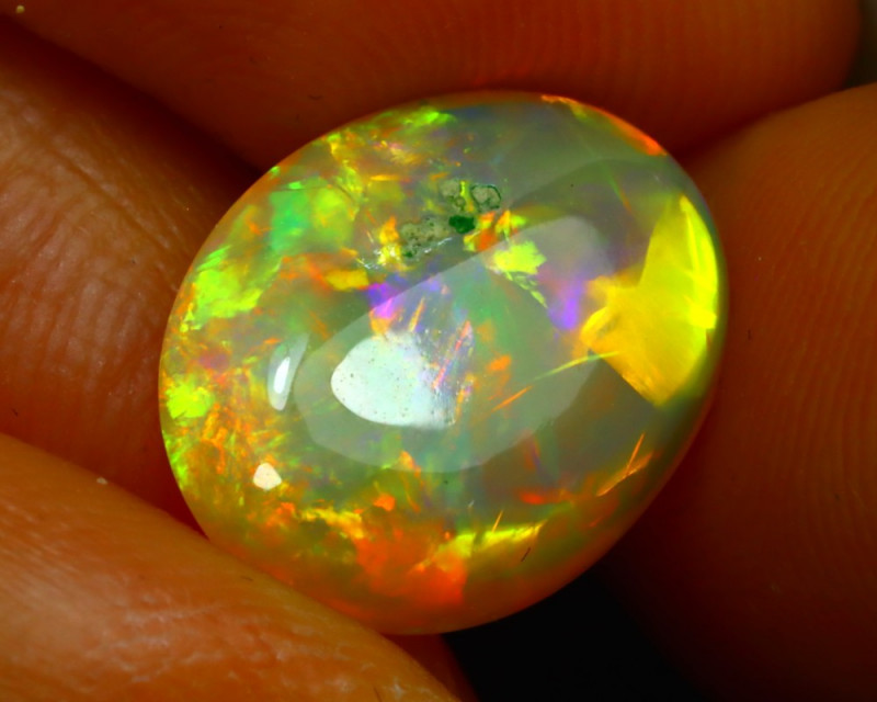 Welo Opal 3.70Ct Natural Ethiopian Play of Color Opal JN22