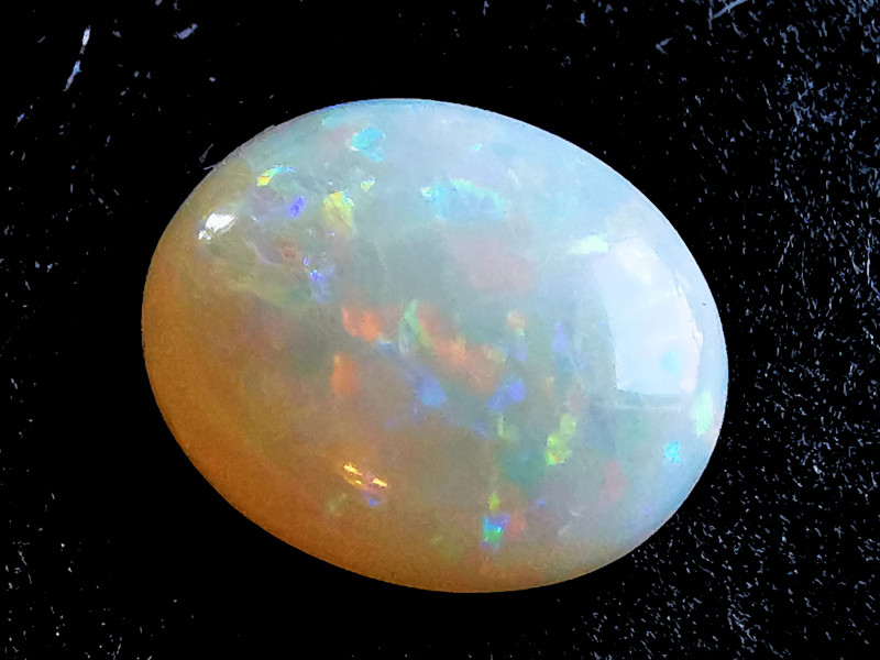 Solid White Crystal Opal - Coober Pedy Australia - 1.37 Cts
