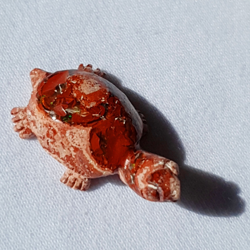 Turtle Mexican Multicoloured Fire Opal Figurine