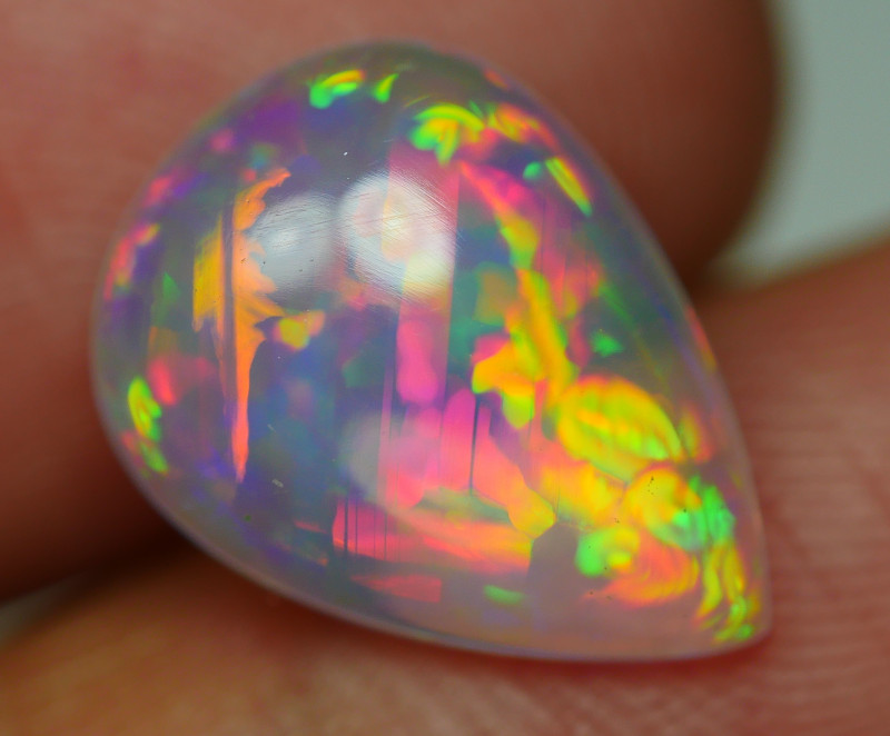 2.615 CRT CRYSTAL CLEAR FLOWER FLORAL BEAUTY COLOR WELO OPAL