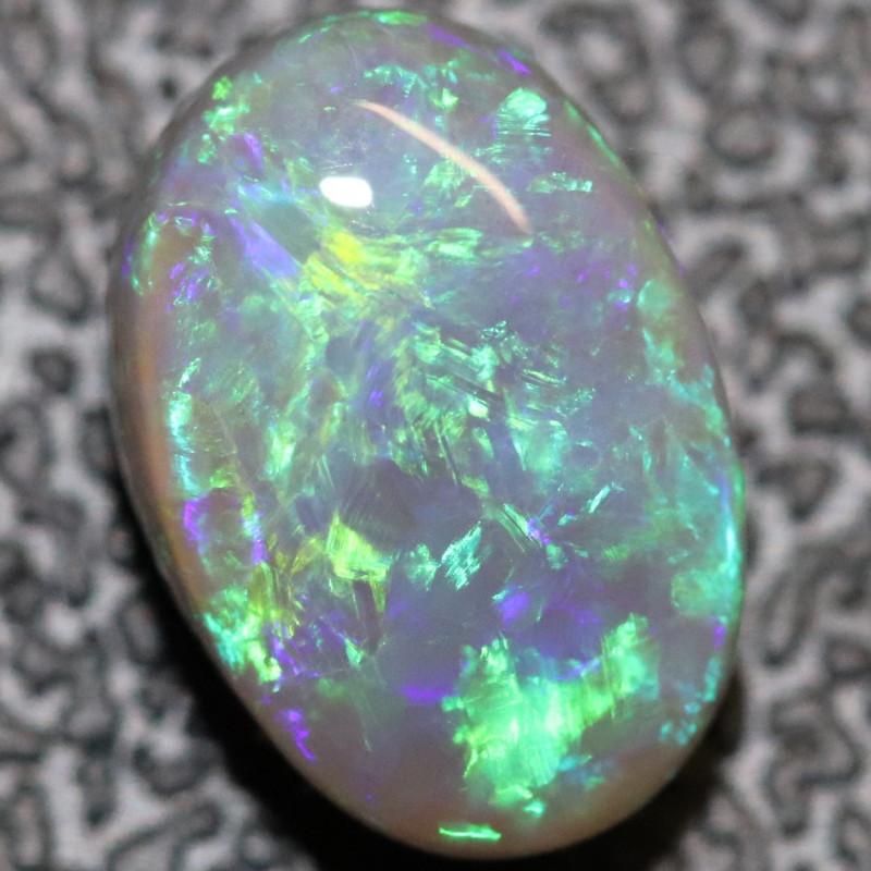 2.5 cts Semi Black Opal Solid Lightning Ridge Cabochon