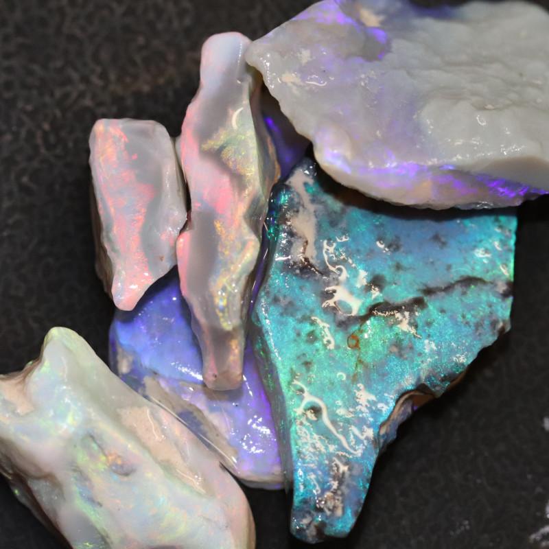 51.97cts Australian Opal Rough Lightning Ridge  Parcel
