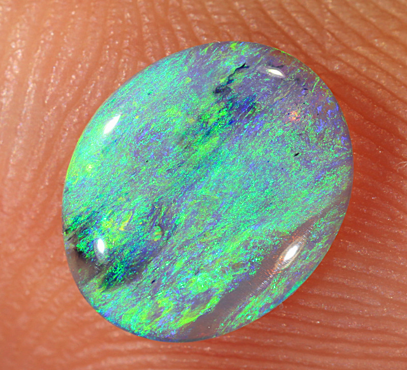 0.65ct 8.3x6.8mm Solid Lightning Ridge Crystal Opal [LO-2133]