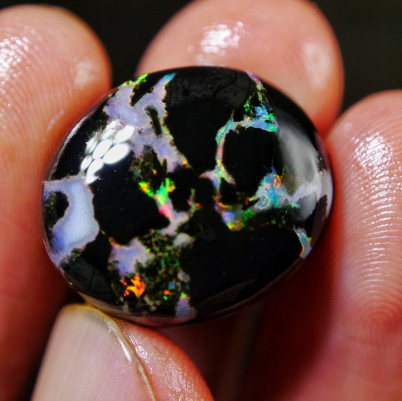 20.45 CT (MUST SEE VIFEO)  Beautiful Indonesia Wood Fossil Opal Polished