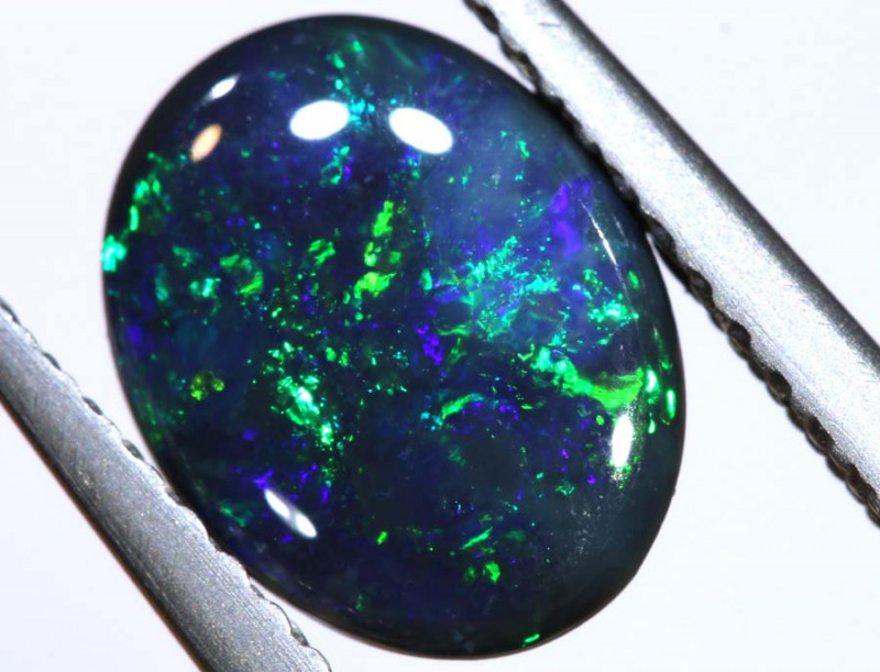 N1 -  1.33CTS QUALITY BLACK OPAL POLISHED STONE  INV-OPM-143