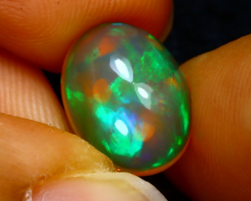 Welo Opal 2.62Ct Natural Ethiopian Play of Color Opal J2702/A44