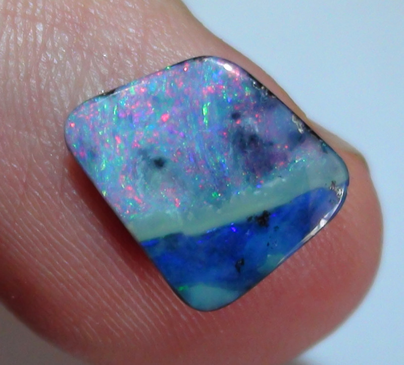2.20 ct Beautiful Multi Color Queensland Boulder Opal