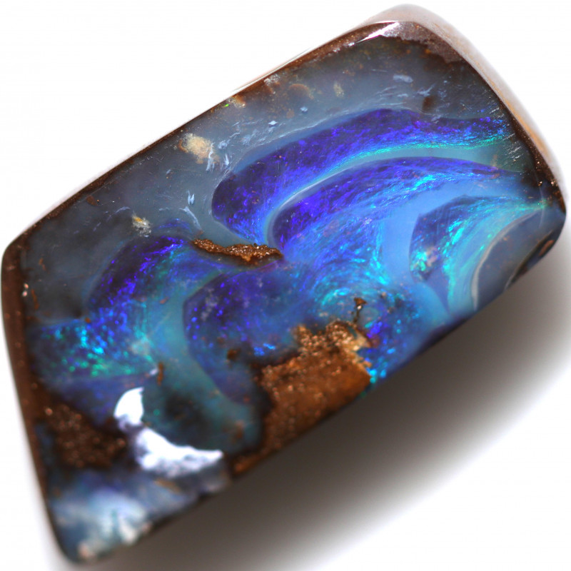 $4.05 PER CTS 16.80 CTS DRILLED BOULDER OPAL-WELL POLISHED [BMA9391]