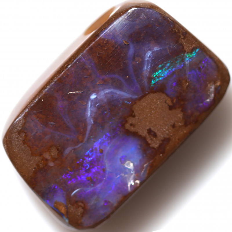 $1.75 PER CTS 22.45 CTS DRILLED BOULDER OPAL-WELL POLISHED [BMA9394]