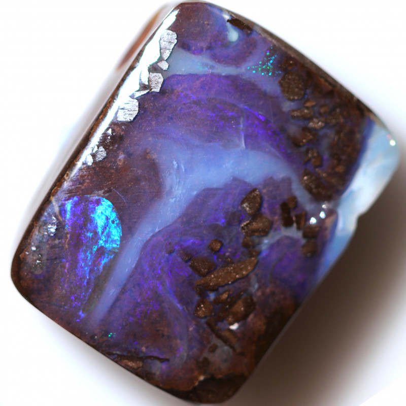 $2.00 PER CTS 27.85 CTS DRILLED BOULDER OPAL-WELL POLISHED [BMA9399]