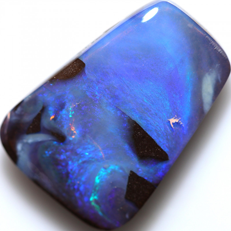 $3.50 PER CTS 24.55 CTS DRILLED BOULDER OPAL-WELL POLISHED [BMA9415]