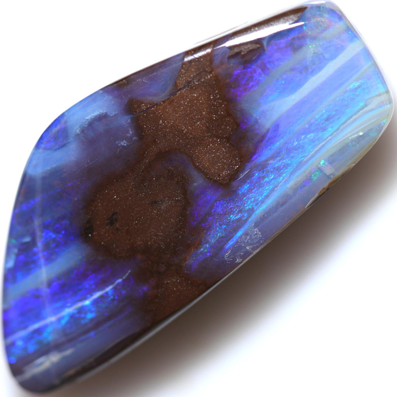 $1.90 PER CTS 38.50 CTS DRILLED BOULDER OPAL-WELL POLISHED [BMA9419]
