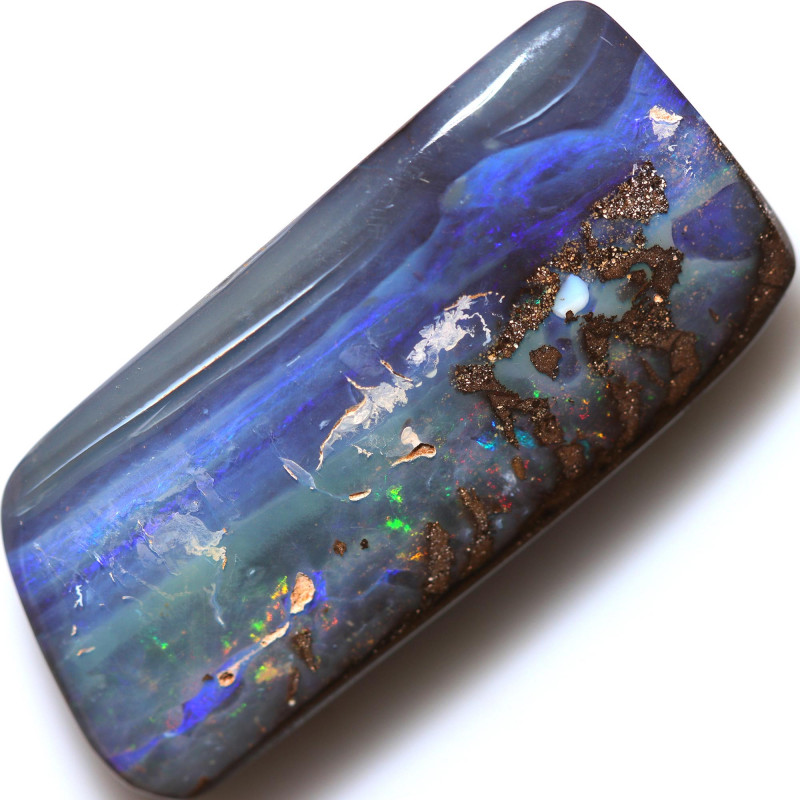 $1.40 PER CTS 55.15 CTS DRILLED BOULDER OPAL-WELL POLISHED [BMA9421]