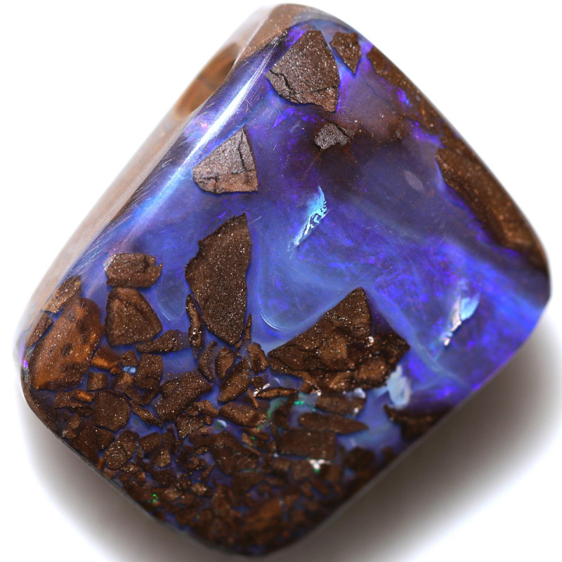 $2.95 PER CTS 24.75 CTS DRILLED BOULDER OPAL-WELL POLISHED [BMA9427]