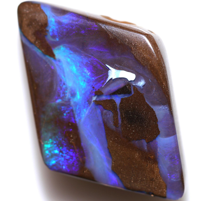 $4.50 PER CTS 22.55 CTS DRILLED BOULDER OPAL-WELL POLISHED [BMA9429]