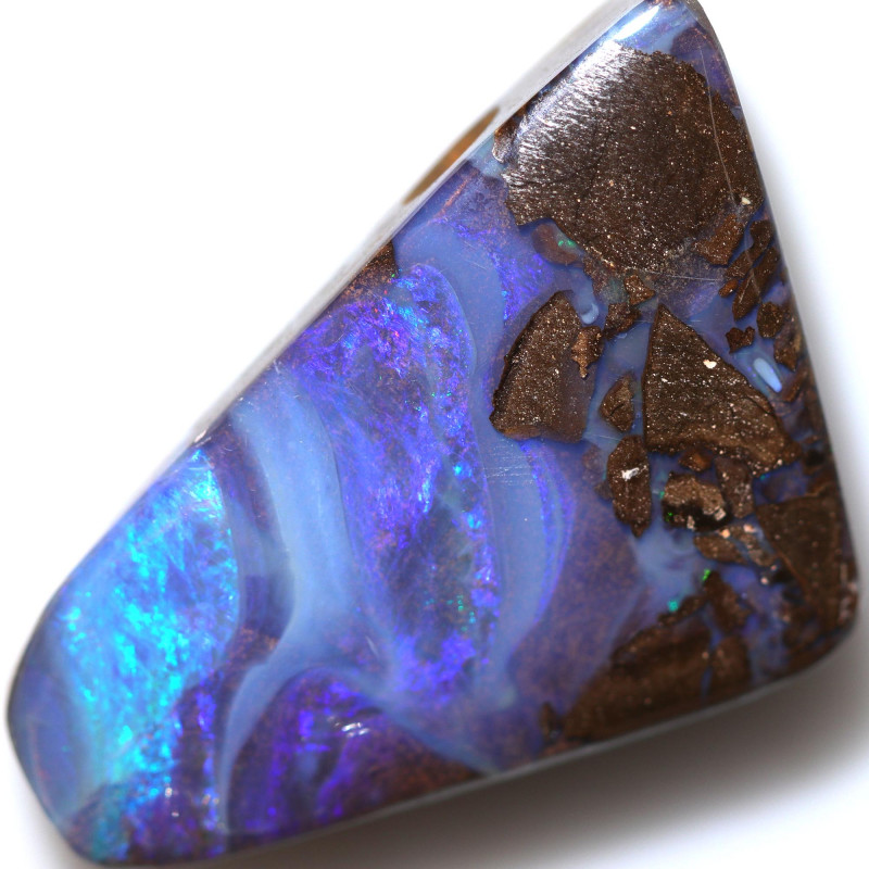$2.40 PER CTS 31.20 CTS DRILLED BOULDER OPAL-WELL POLISHED [BMA9433]