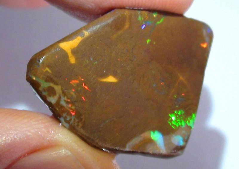 19.90 ct Koroit Multi Gem Color Matrix Boulder Opal Rough Rub