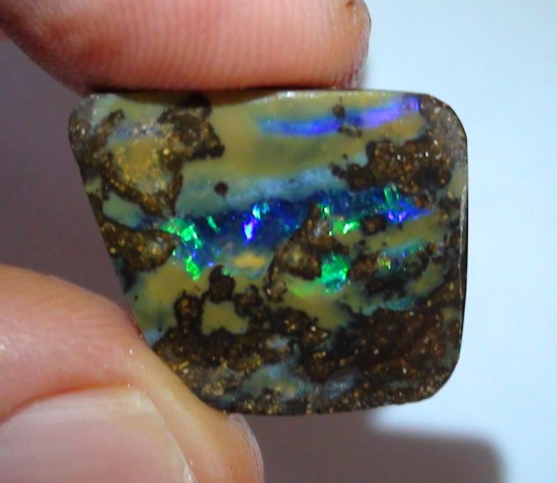 11.05 ct Beautiful Gem Blue Green Color Solid Boulder Opal Rough Rub