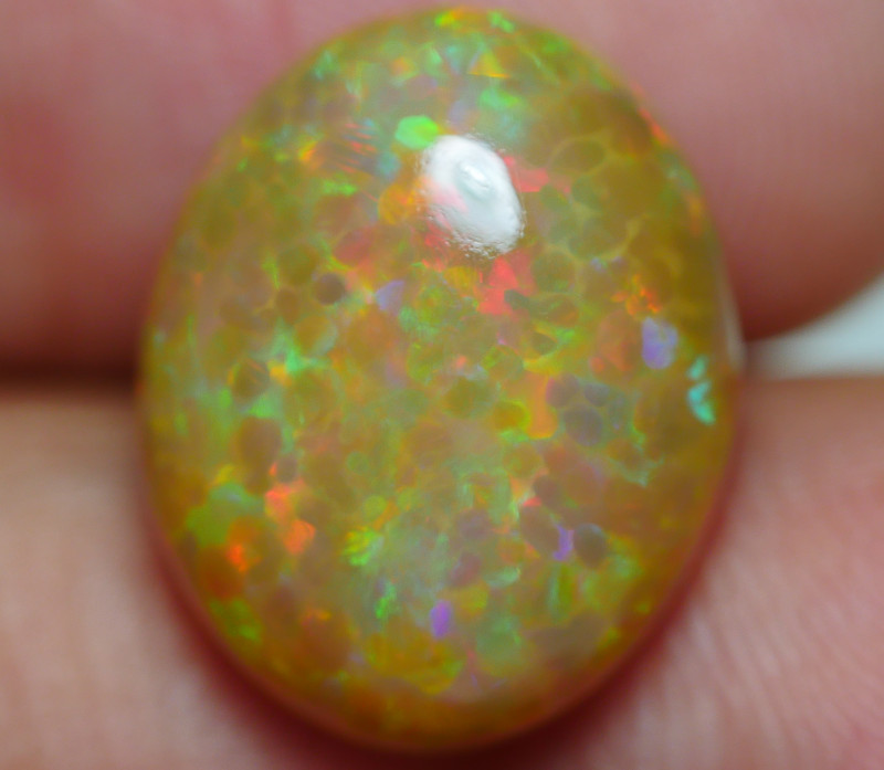 6.775 CRT RARE! DARK BASE FLOWER HONEYCOMB WEB PLAY COLOR WELO OPAL-