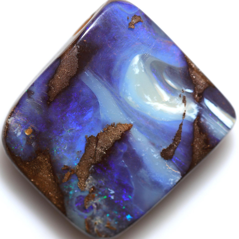 $2.03 PER CTS 49.30 CTS DRILLED BOULDER OPAL-WELL POLISHED [BMA9449]
