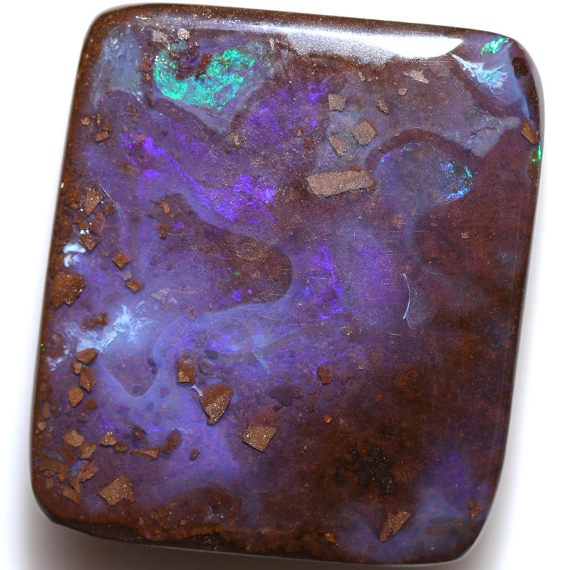 $1.39 PER CTS 55.95 CTS DRILLED BOULDER OPAL-WELL POLISHED [BMA9450]