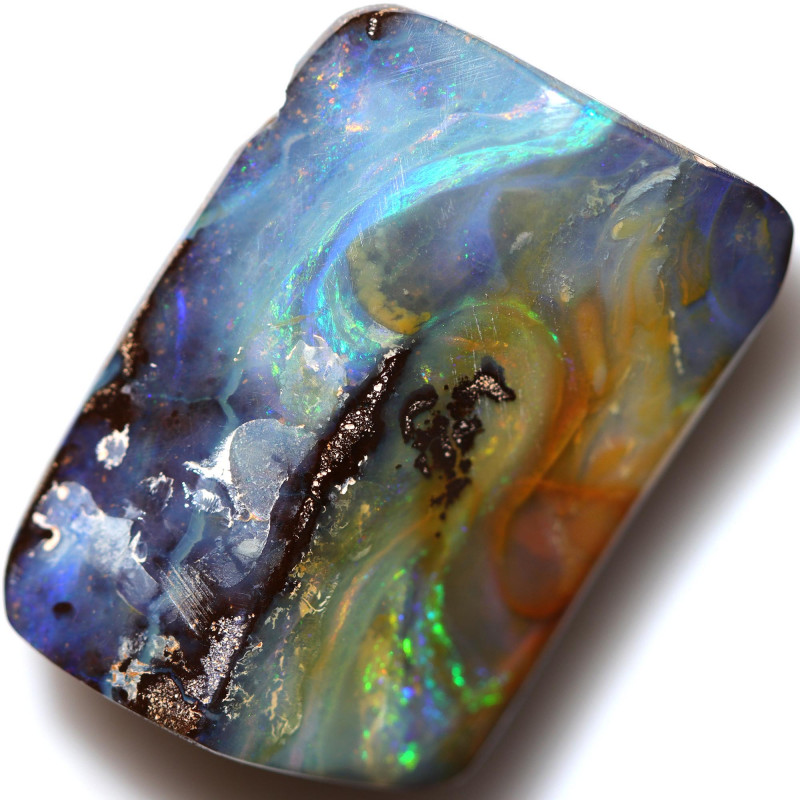 $1.99 PER CTS 60.20 CTS DRILLED BOULDER OPAL-WELL POLISHED [BMA9455]