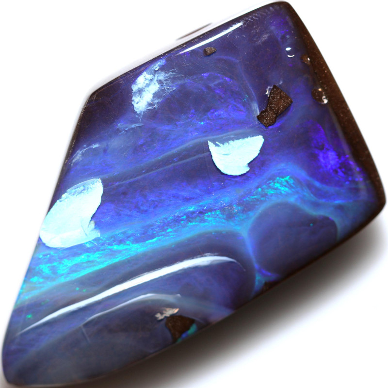 $2.04 PER CTS 110.55 CTS DRILLED BOULDER OPAL-WELL POLISHED [BMA9460]