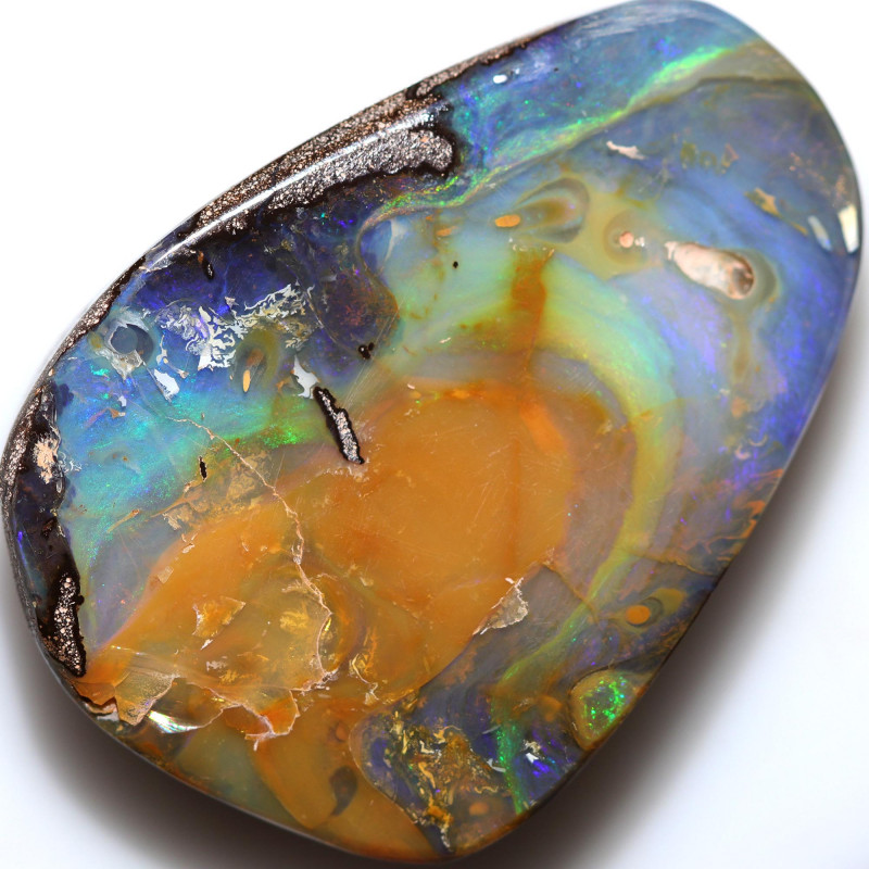 $1.55 PER CTS 90.55 CTS DRILLED BOULDER OPAL-WELL POLISHED [BMA9462]