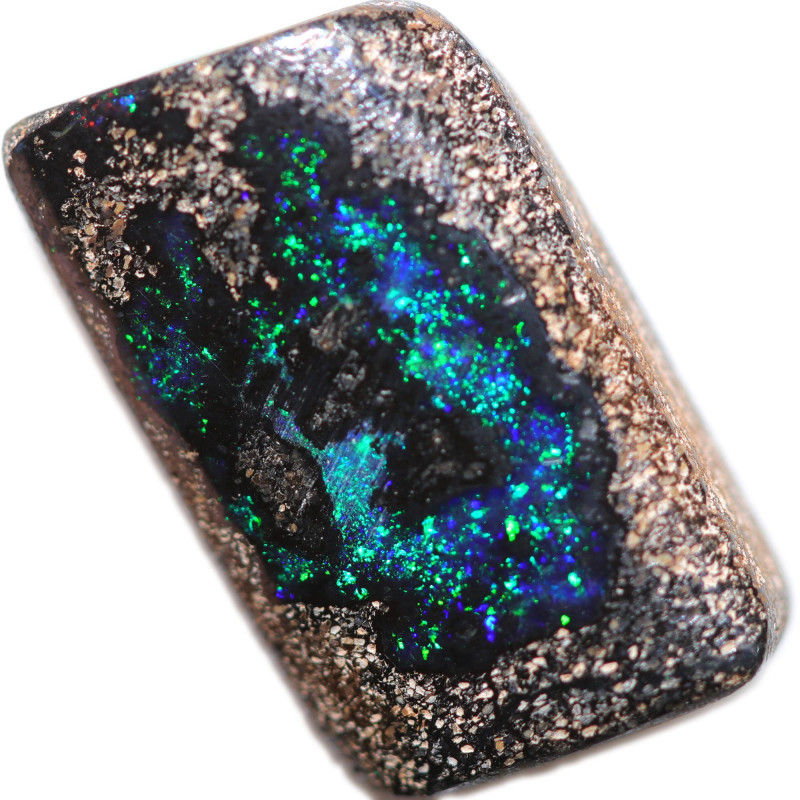 $5.92 PER CTS 9.80 CTS DRILLED BOULDER OPAL-WELL POLISHED [BMA9468]