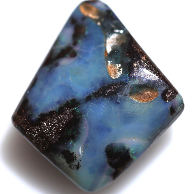 $1.36 PER CTS 14.70 CTS DRILLED BOULDER OPAL-WELL POLISHED [BMA9474]