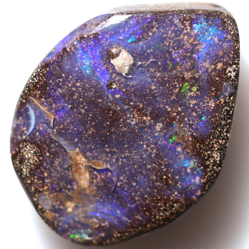 $2.69 PER CTS 14.10 CTS DRILLED BOULDER OPAL-WELL POLISHED [BMA9480]