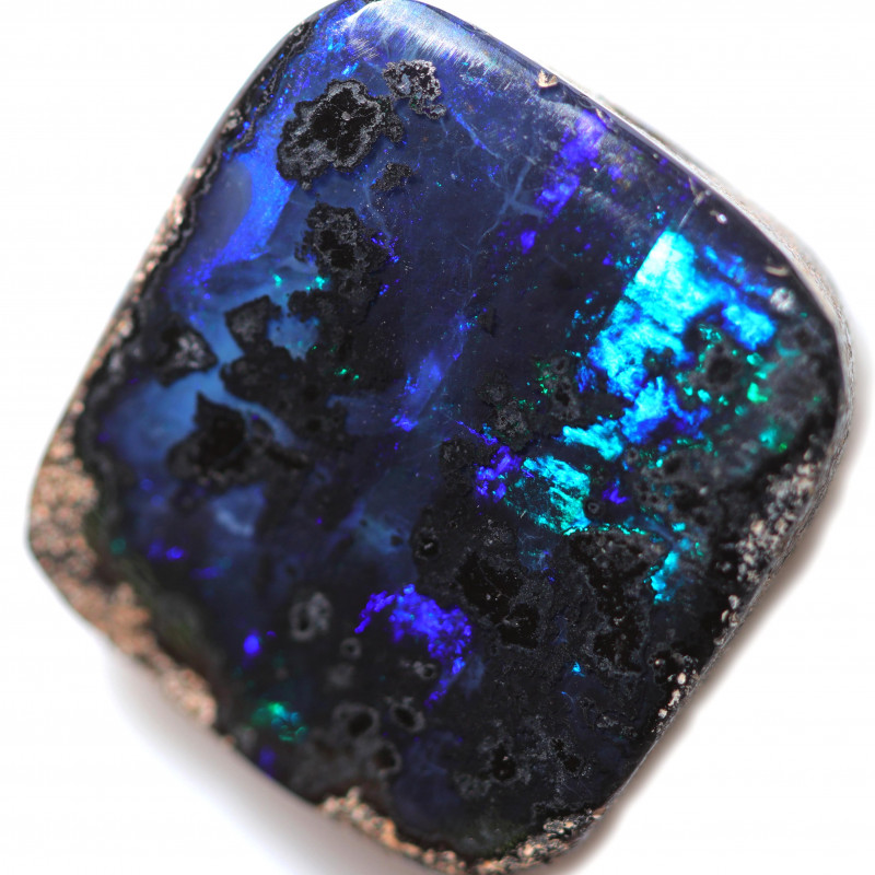 $ 5.21 PER CTS16.35 CTS DRILLED BOULDER OPAL-WELL POLISHED [BMA9482]
