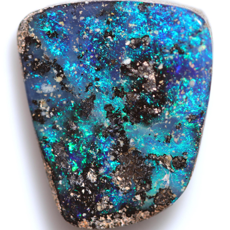 $5.23 PER CTS 23.90 CTS DRILLED BOULDER OPAL-WELL POLISHED [BMA9489]