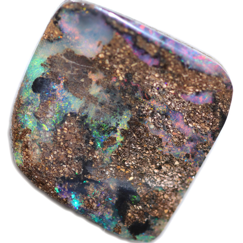 $ 2.35 PER CTS 23.45 CTS DRILLED BOULDER OPAL-WELL POLISHED [BMA9490]