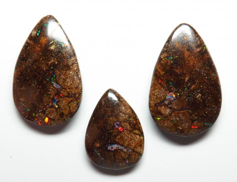 49.36ct Queensland Boulder Matrix Opal Pendant & Earring Set