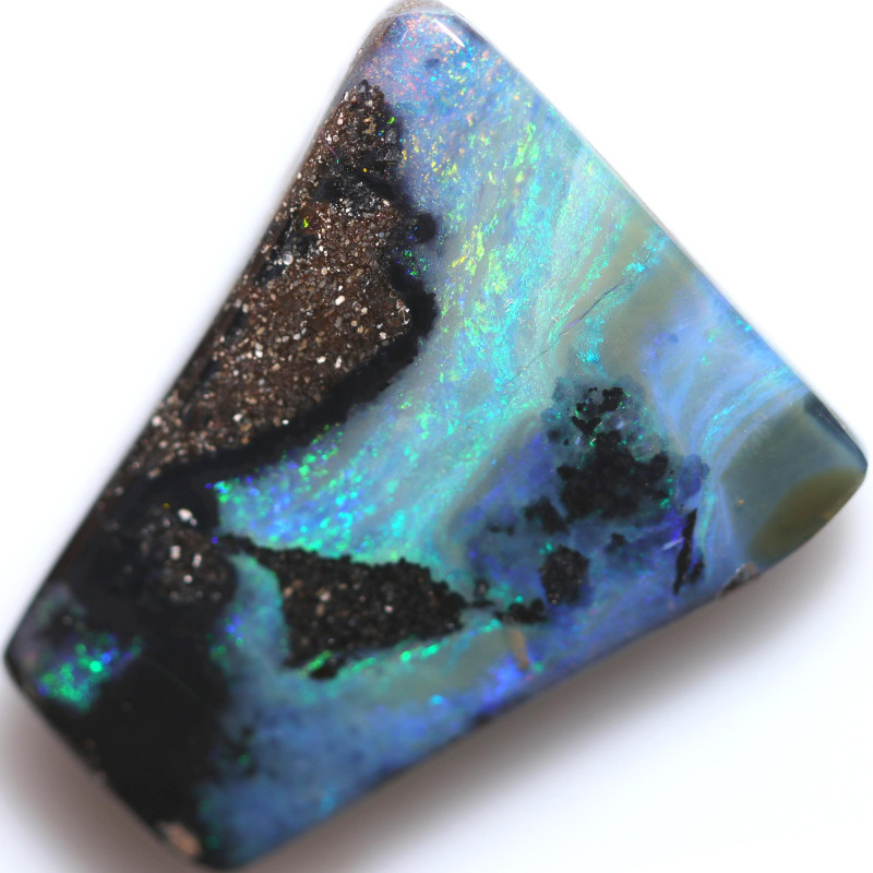 $2.41 PER CTS 28.20 CTS DRILLED BOULDER OPAL-WELL POLISHED [BMA9493]