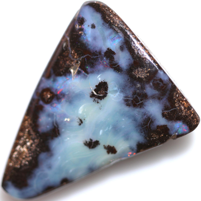 $1.39 PER CTS 34.50 CTS DRILLED BOULDER OPAL-WELL POLISHED [BMA9494]