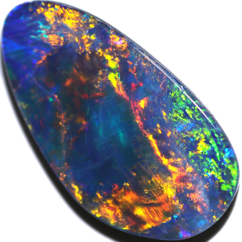 FREE SHIPPING 8.60 CTS GEM BLACK OPAL FROM LR