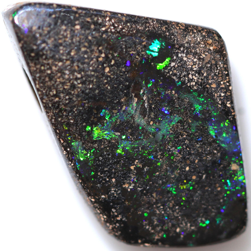 $6.23 PER CTS 13.65 CTS DRILLED BOULDER OPAL-WELL POLISHED [BMA9497]