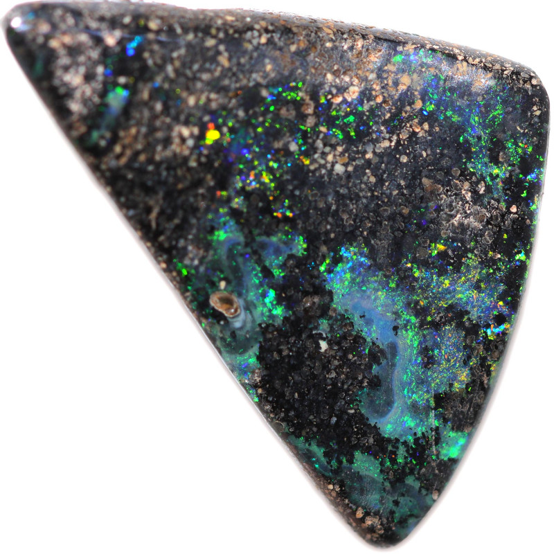 $4.41 PER CTS 9.05 CTS DRILLED BOULDER OPAL-WELL POLISHED [BMA9498]