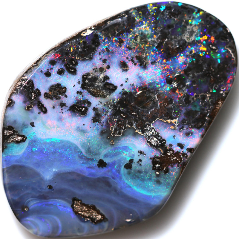$4.41PER CTS 130.50 CTS DRILLED BOULDER OPAL-WELL POLISHED [FJP3357]