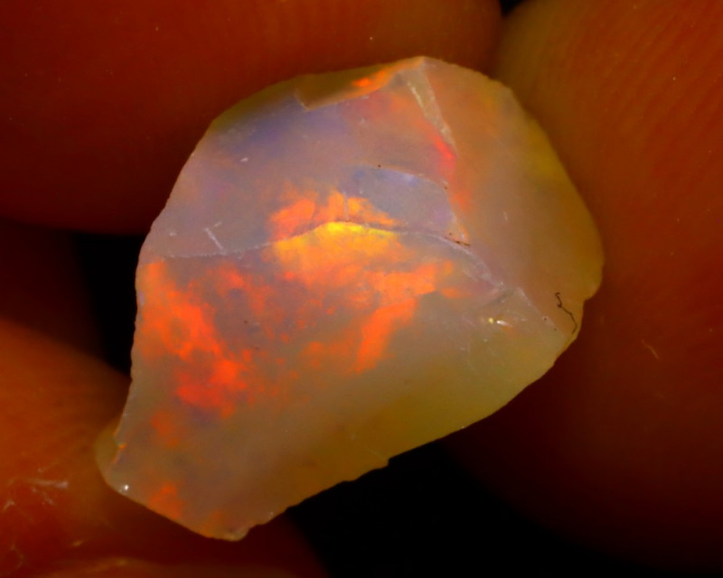 3.28Ct Multi Color Play Ethiopian Welo Opal Rough J1216/R2
