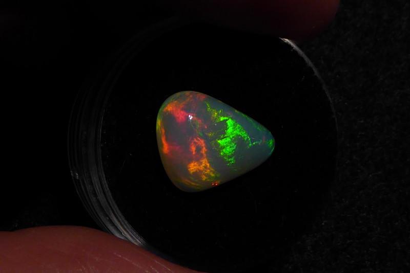 3.7 ct Ethiopian Welo Opal triangle