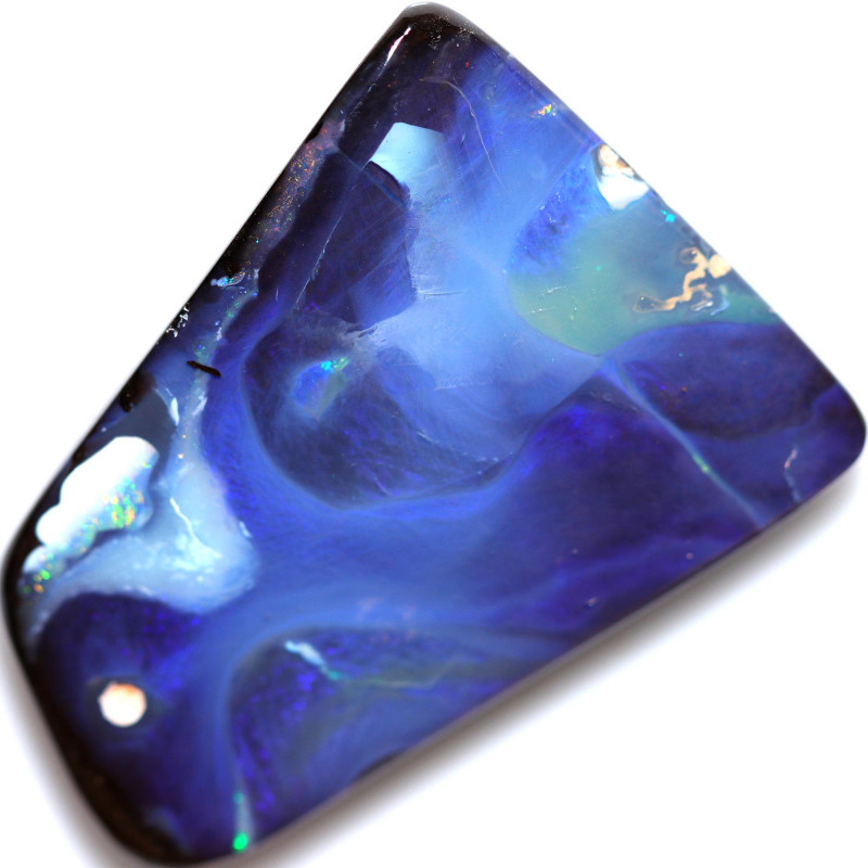 $2.00 PER CTS 55.90 CTS DRILLED BOULDER OPAL-WELL POLISHED [SEDA7149]
