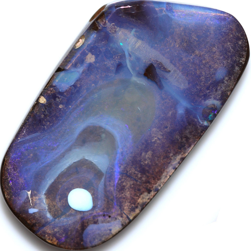 $1.40 PER CTS 87.20 CTS DRILLED BOULDER OPAL-WELL POLISHED [SEDA7160]