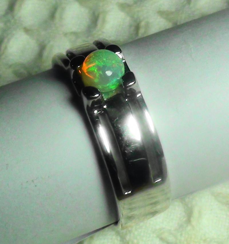 OPAL SIZE 12 MENS 925 STERLING SILVER RING *