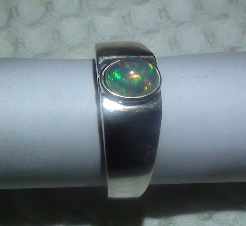 30.90 ct Stunning 925 Silver Bright Multi Color Welo Ring *