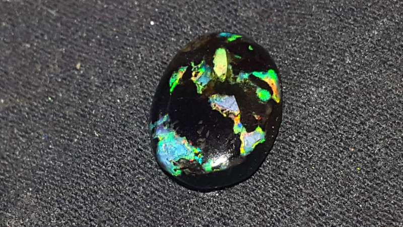 2.50 CRT BEAUTY FLORAL PLAY COLOR INDONESIAN OPAL WOOD FOSSIL